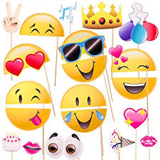 photo prop emoji icon smiley photo booth prop party kit 20
