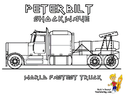 Jet Truck Coloring Page | shockwave world fastest truck peterbilt jet truck you can print out