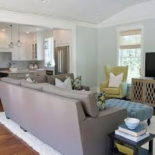 taupe sectional transitional living room benjamin moore