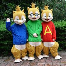 Halloween Costume Rental Fursuit Mascot Sale Alvin Chipmunks Mascot Cartoon