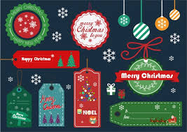 christmas design elements tags and baubles balls collection free