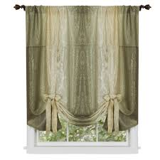 Tie Up Curtains Achim Semi Opaque Ombre Polyester 50 In W X 63 In L Tie Up Shade