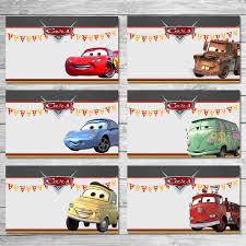 Disney Cars Food Tents Chalkboard Cars Food Labels Disney