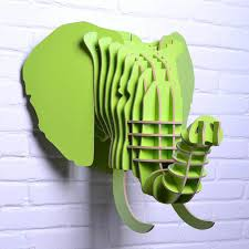 wooden elephant for wall wood ornament for decoration
