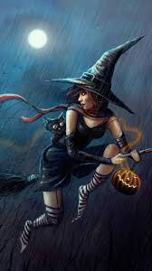 halloween iphone wallpaper halloween cute witch flying broom iphone 6 wallpaper ipod