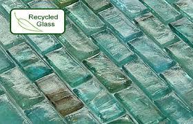 recycled glass backsplashes for kitchens recycled glass mosaic tile only 13 99 sqft backsplash glass