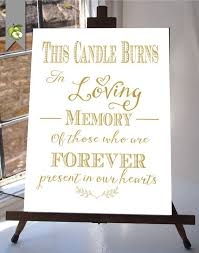 wedding memorial sign unique wedding memorial ideas in loving memory diys