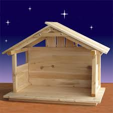 wood nativity stable outdoor 30 high