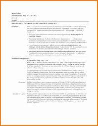Sample Logistics Cover Letter Resume Cover Letter Doc Sample Resumes For Internships For College