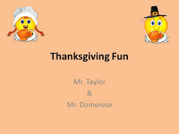 thanksgiving mr mr domerese trivia 1 in what year