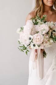 wedding flowers peonies pastel santa barbara wedding anemone wedding bouquet