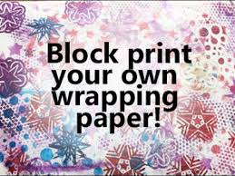 block printing wrapping paper simple easy crafts