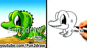how to draw cartoon characters easy how to draw a alligator