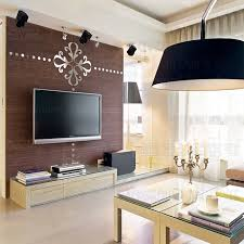 Tv In Dining Room Diy Creative Abstract Chandelier Tv Background 3d Adhesive