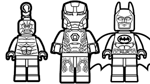 lego iron man vs lego batman vs lego scorpion coloring pages