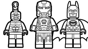 lego iron man vs lego batman vs lego scorpion coloring pages