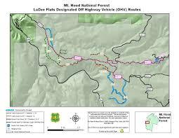Mt Hood Trail Map Mt Hood National Forest La Dee Flats Ohv