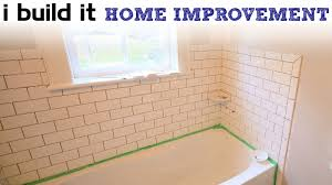 Ceramic Tiles For Bathroom Doing Ceramic Tile Around The Tub Youtube