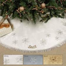 snowflake embroidered tree skirt