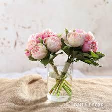peony bouquet 1 bouquet high simulation silk peony flowers wedding bridal