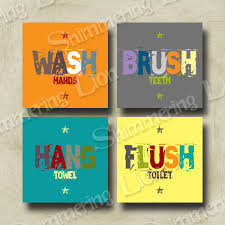 unisex kids bathroom ideas kids bathroom bath wash brush hang flush by shimmeringlionstudio