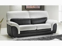 direct usine canapé canape 3 places en cuir noir et blanc pas cher direct usine frais