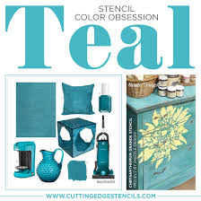 Stencil Color Obsession Teal Stencil Stories Stencil Stories