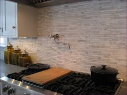 Marble Tile Kitchen Backsplash Natural Stone Backsplash Renovated Kitchen With Natural Stone