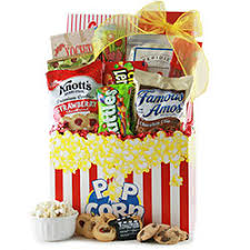 Popcorn Baskets Movie Gift Baskets Ideas For Movie Night Baskets Diygb