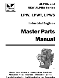lister petter lpw3 master service manual 28 images lister