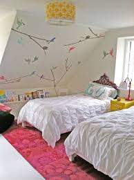 shabby chic white quilt kids room attic shabby chic kids bedroom with exposed beam ceiling