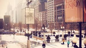 2560x1440 people winter cityfront center usa america chicago