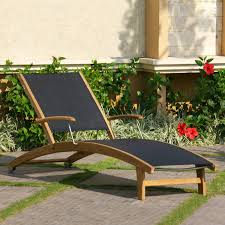 Teak Outdoor Furniture Atlanta by Rivera Teak Sling Lounge Chair Outdoor Chaise Lounges Outdoor