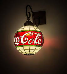 Stained Glass Wall Sconce 12 W Coca Cola Stained Glass Wall Sconce Complement Your Decor