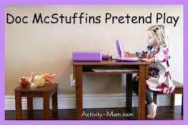 activity mom doc mcstuffins pretend play printables