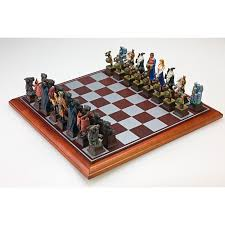cool chess boards fantasy chess set hayneedle
