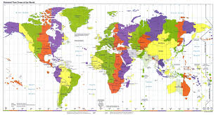 World Map Large by Large Map Of Time Zones Of The World U2013 1995 Vidiani Com Maps