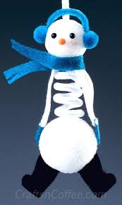 in july a springy snowman ornament for your tree