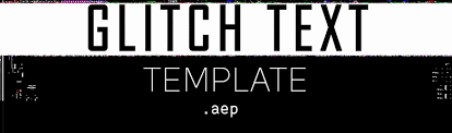 free after effects glitch text template free stock footage archive