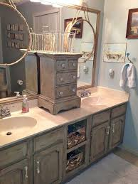 wooden painting bathroom vanity before and after jessica color