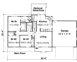 Floor Plans For Ranch Style Homes Ranch Style House Plan 3 Beds 2 00 Baths 1137 Sq Ft Plan 312 850