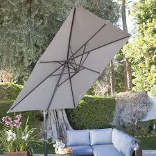 Grey Patio Umbrella by Coral Coast 8 5 Ft Square Offset Patio Umbrella Hayneedle