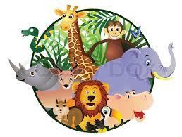 safari cartoon safari cartoon stock vector colourbox