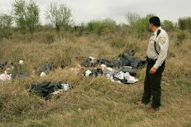 free picture law enforcement officer inspects trash