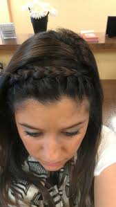 2 braids in front hair down hairstyle long natural hair french braid headband going to do this w my bangs then have my
