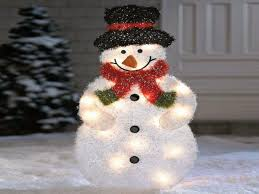 outdoor lighted snowman decorations pavillion home designs