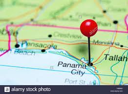 Panama City Map Panama City Pinned On A Map Of Florida Usa Stock Photo Royalty