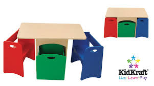 amazon com kidkraft table with primary benches toys u0026 games