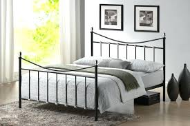 black metal king single bed frame double uk food facts info