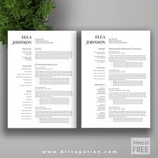 template cv word modern allcupation free or almost free professional resume template cv free